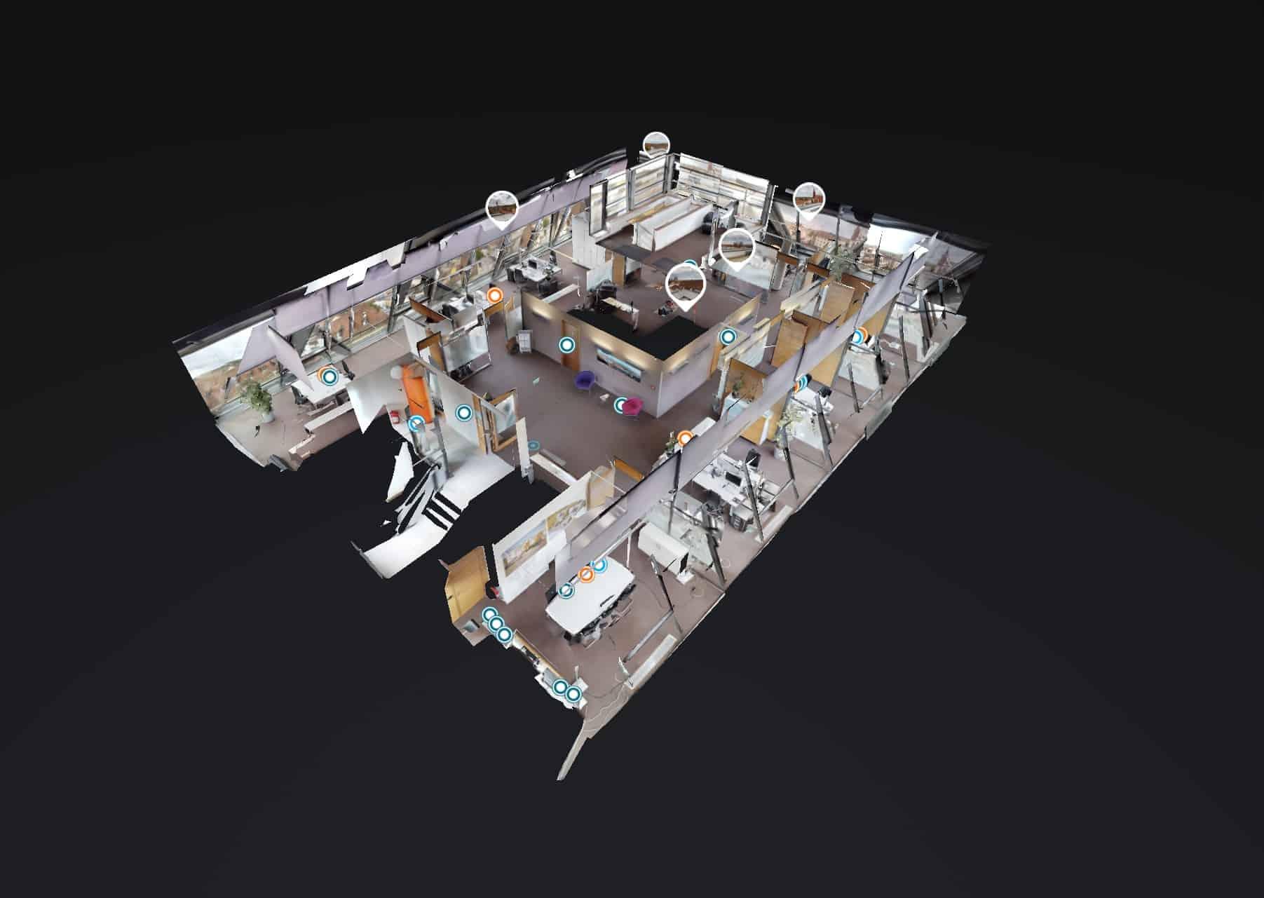3D Scan Dachgeschoss VR-Immoservice Mainfranken GmbH